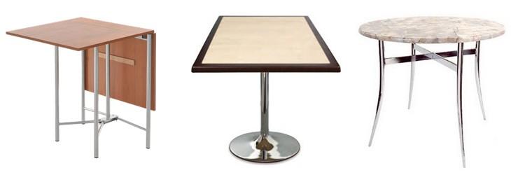 Ассортимент кухонных и обеденных столов