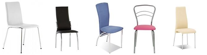 Ассортимент стульев для бара и кафе